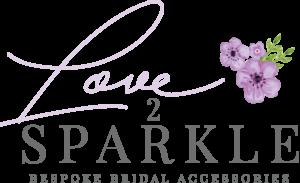 Love 2 Sparkle Flower Logo
